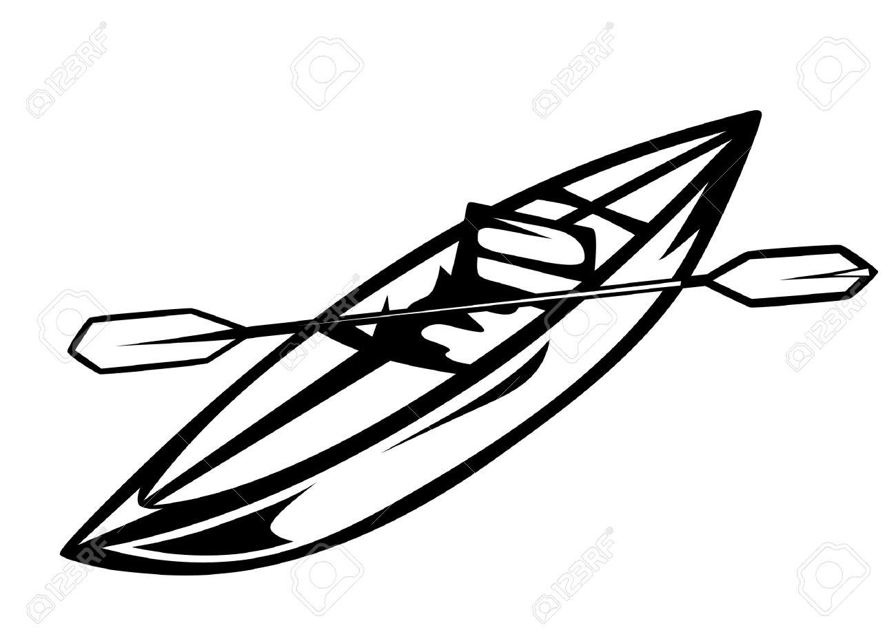 Canoe Vector Illustration Stock