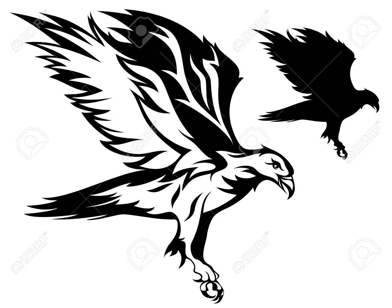 flying eagle vector illustration Stock Vector - 10826131