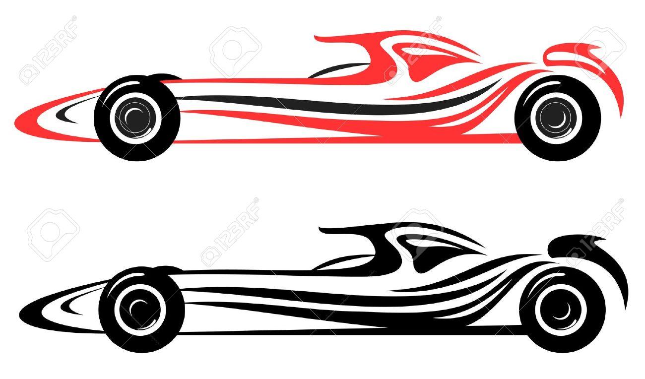 racing car vector emblem Stock Vector - 11091129