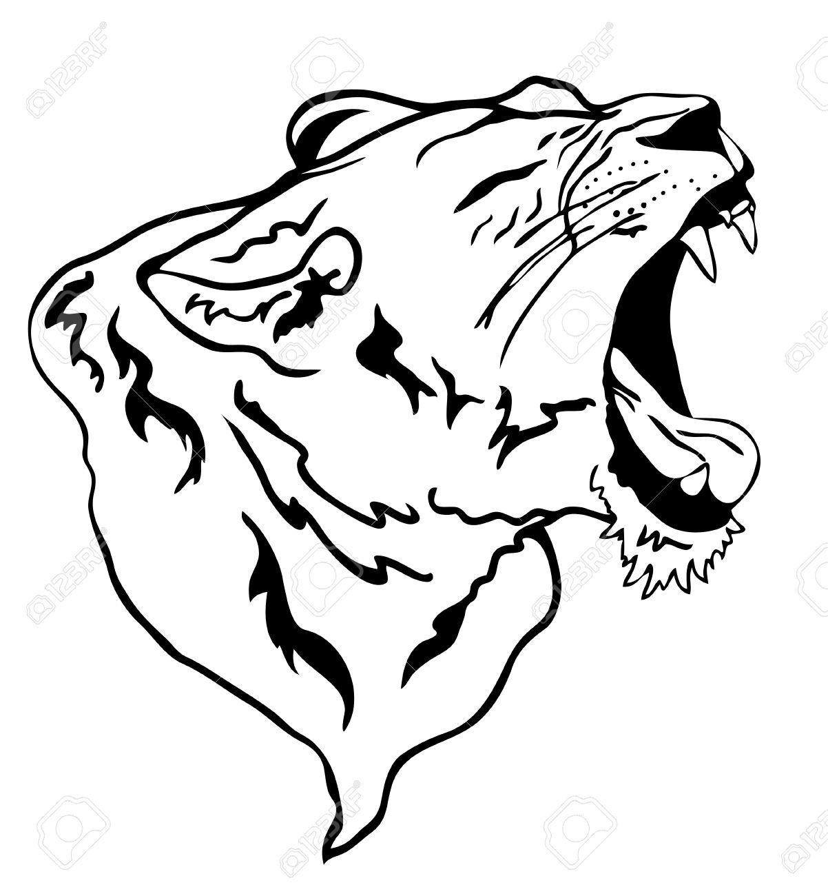 vector lion roaring Stock Vector - 11253547