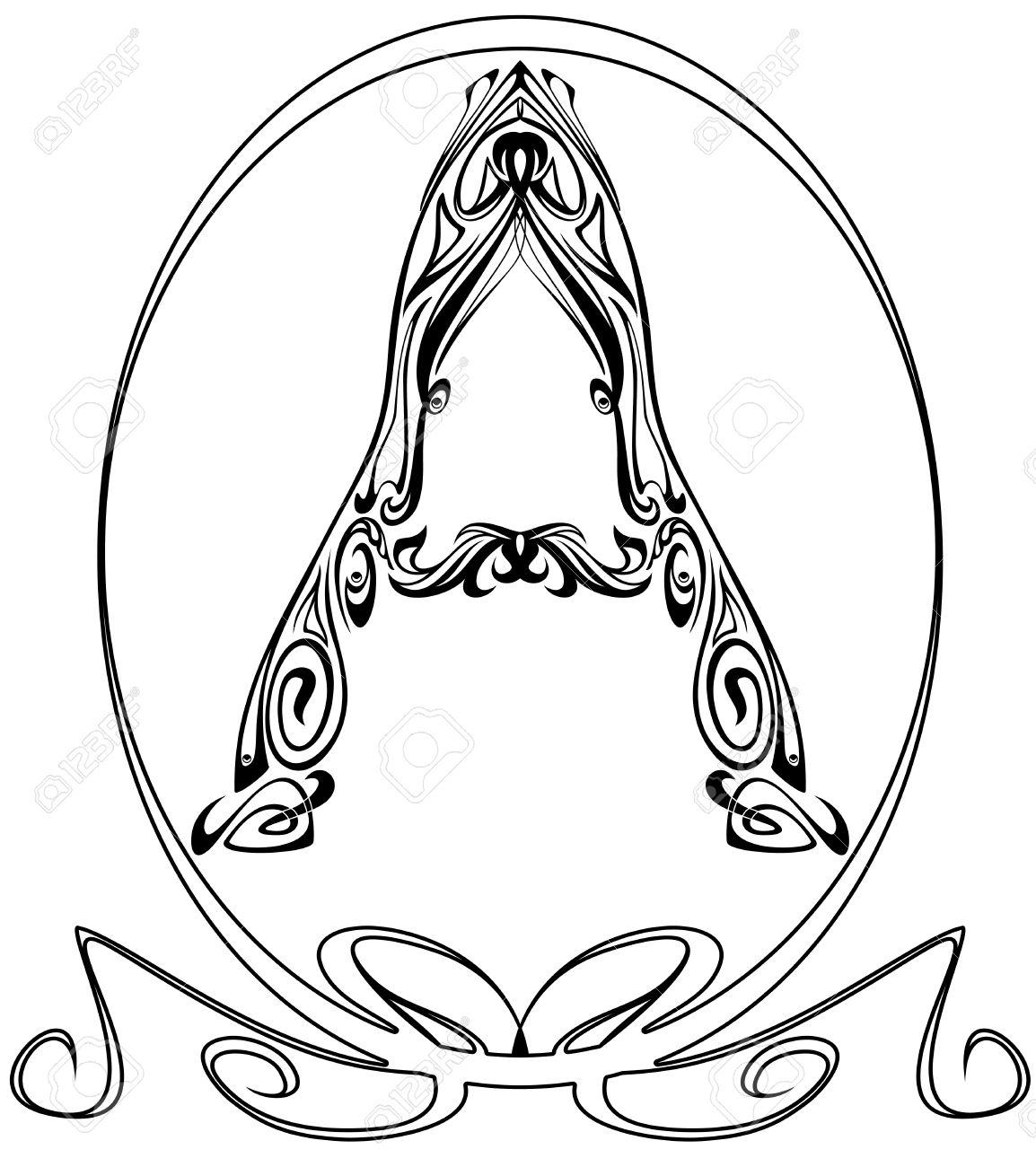 Art Nouveau Style Font