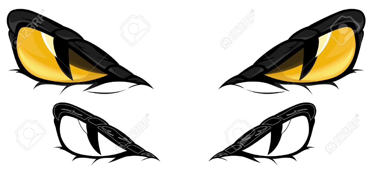 snake eyes illustration - in color and monochrome Stock Vector - 13079224