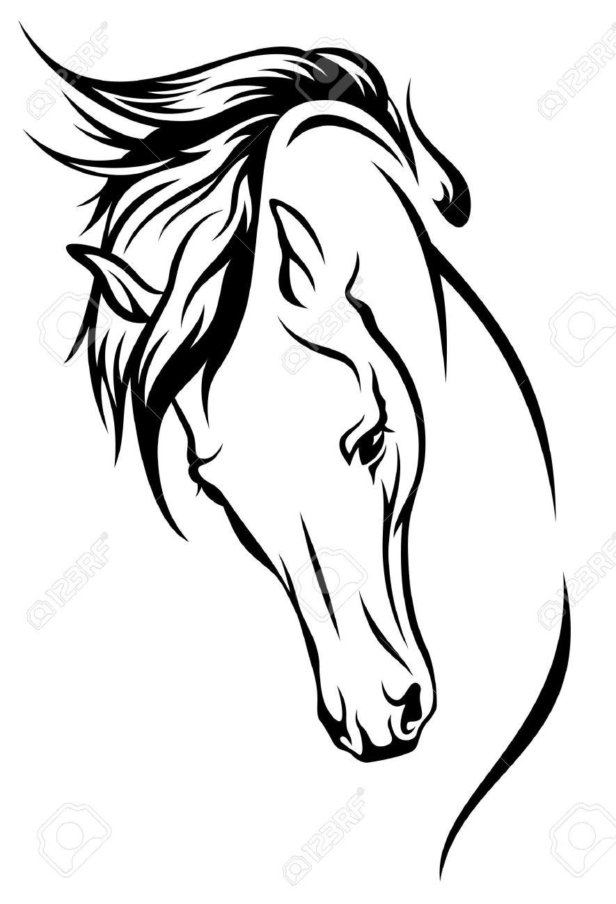 Malvorlage Pferdekopf Einfach Coloring And Malvorlagan