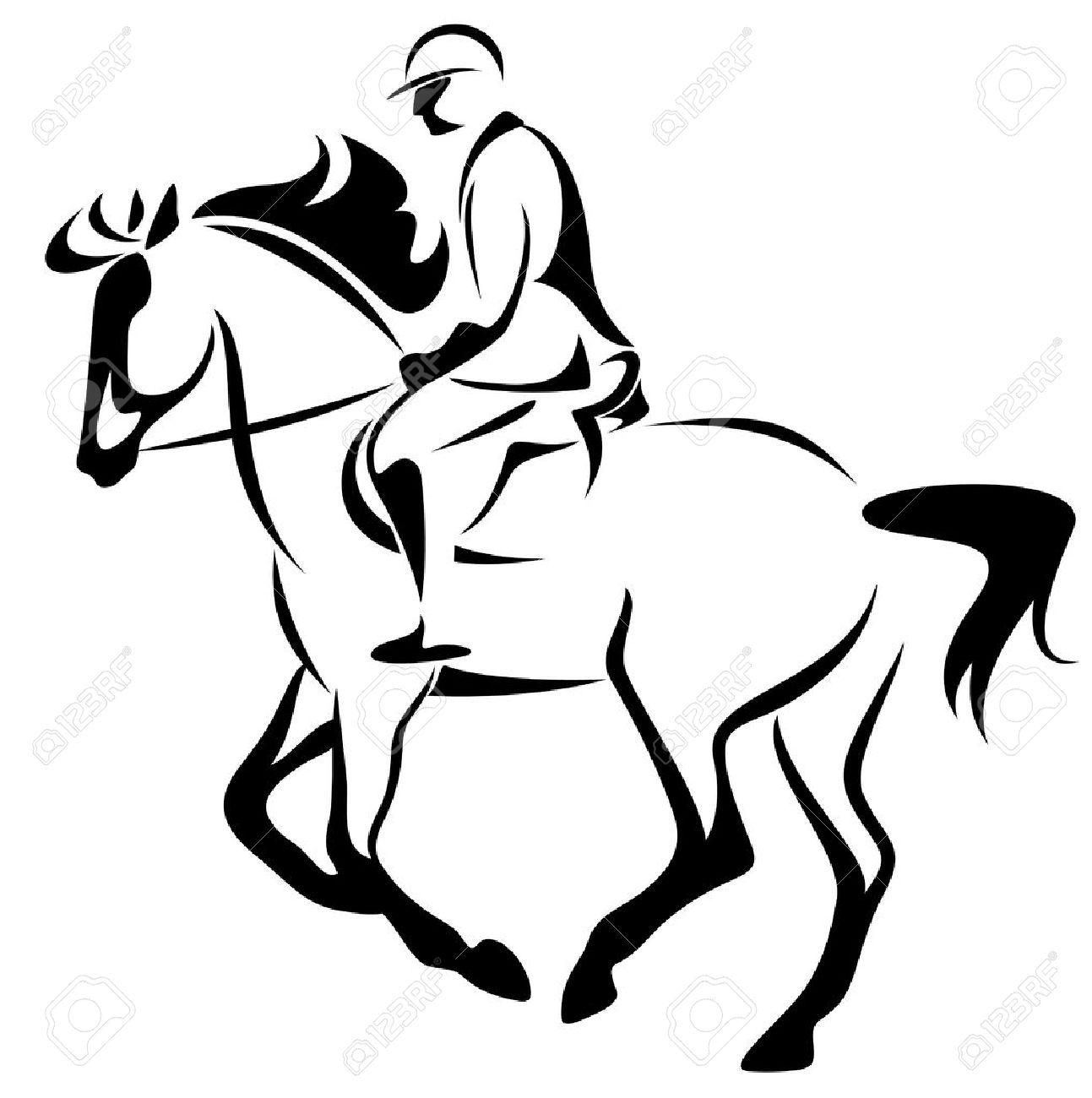 equestrian emblem horse riding illustration royalty free cliparts rh 123rf com horse riding clipart free horseback riding clipart