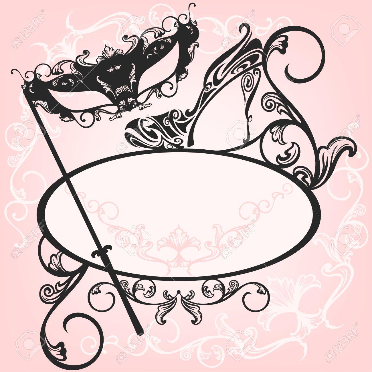 einladung zur party maskerade - elegante vektor-design mit, Einladungen
