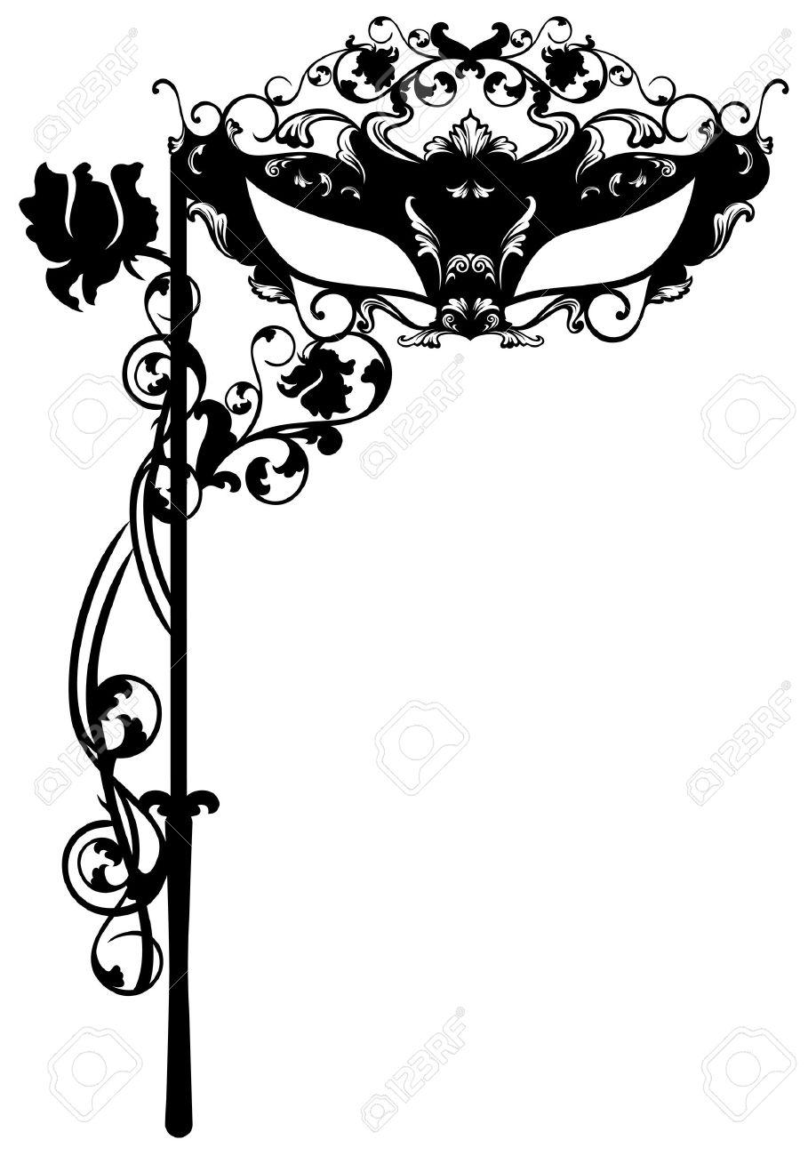 Invitation To Masquerade Party Carnival Ornate Mask Black – Masquerade Party Invitations Free