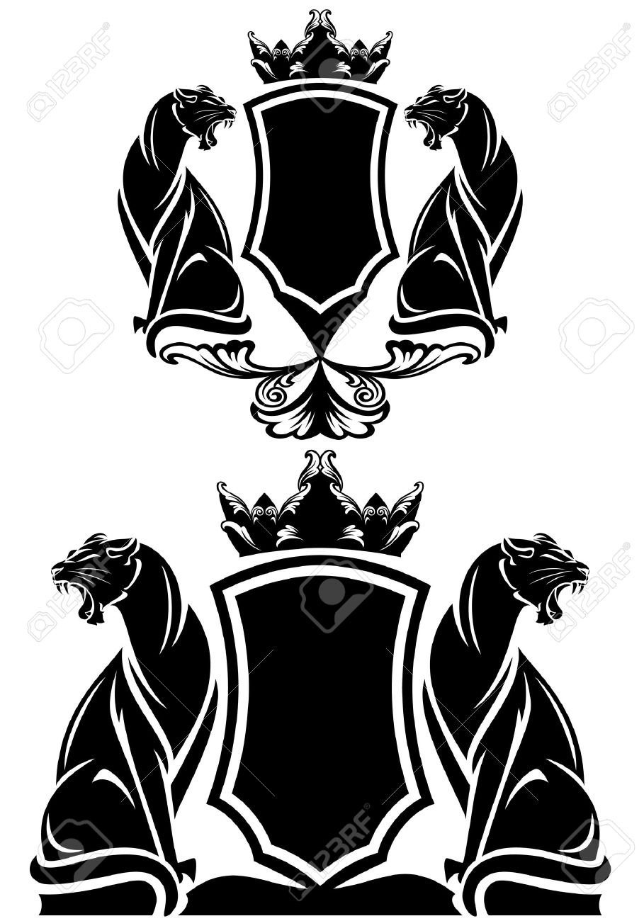 black panther coat of arms emblem - 31064401