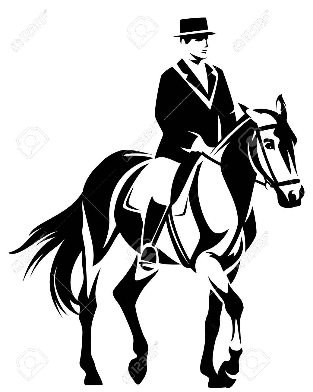 Design Dressage dressage black and white