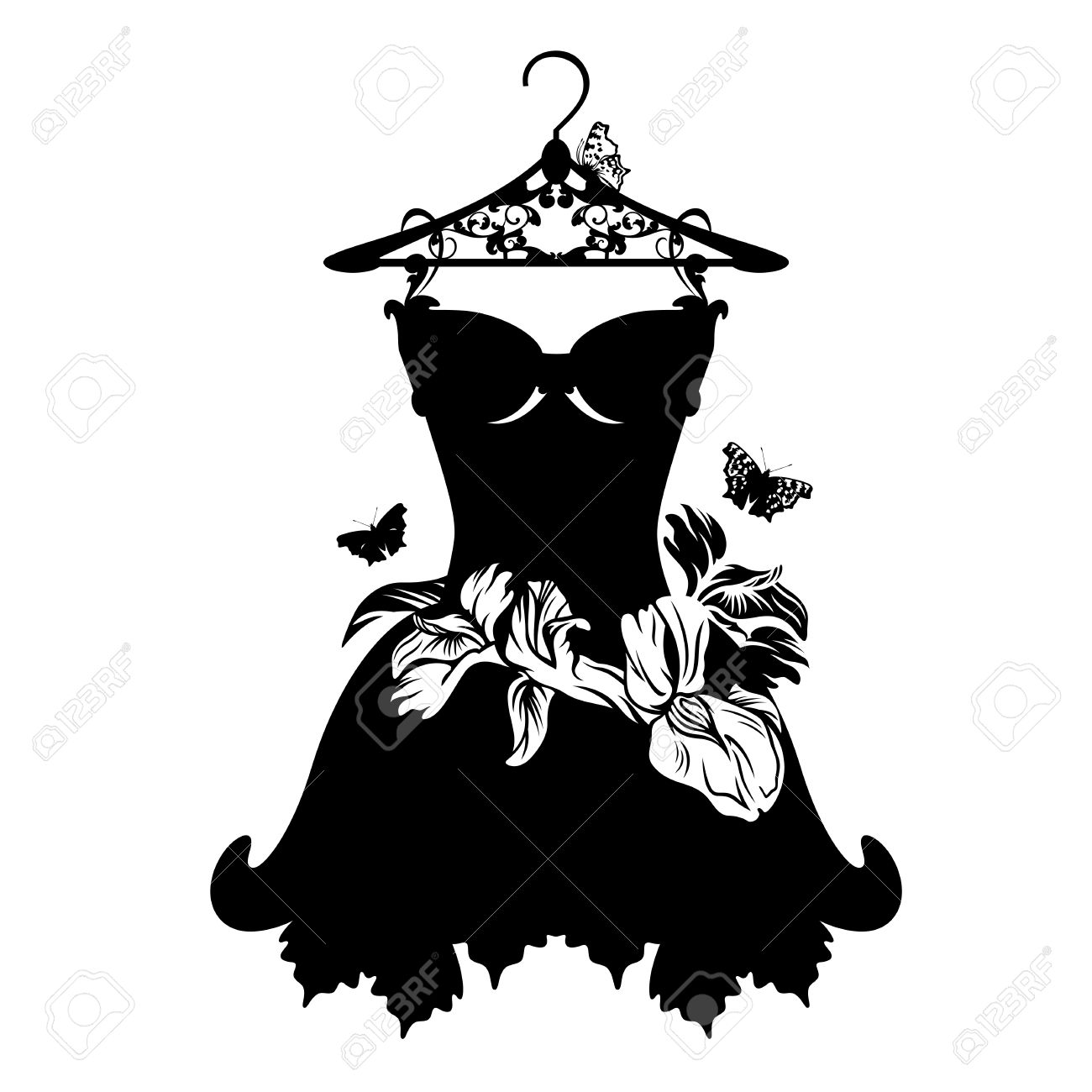 3035 Little Black Dress Cliparts Stock Vector And Royalty Free