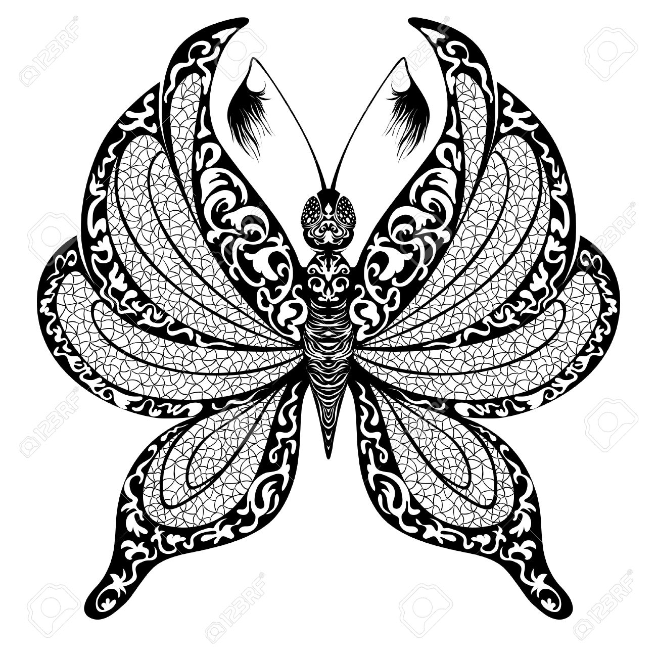 silhouette of butterfly on transparent background royalty free