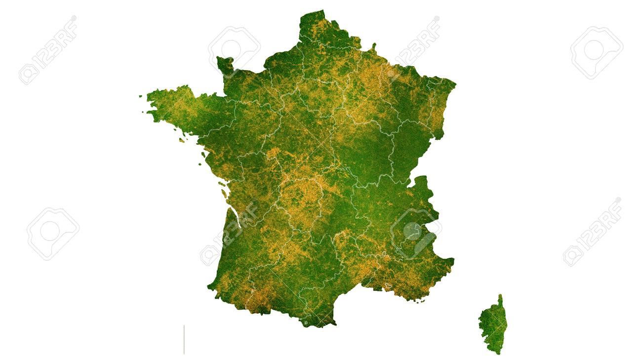 Carte Détaillée De La France Pour Le Pays, Le Voyage, La Texture Et  L'arrière-plan Banque D'Images Et Photos Libres De Droits. Image 87971748.123RF