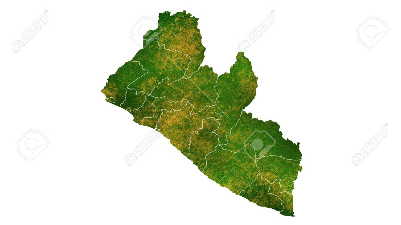 Liberia map detailed visualization for country placetraveltexture liberia map detailed visualization for country placetraveltexture and background stock photo freerunsca Gallery