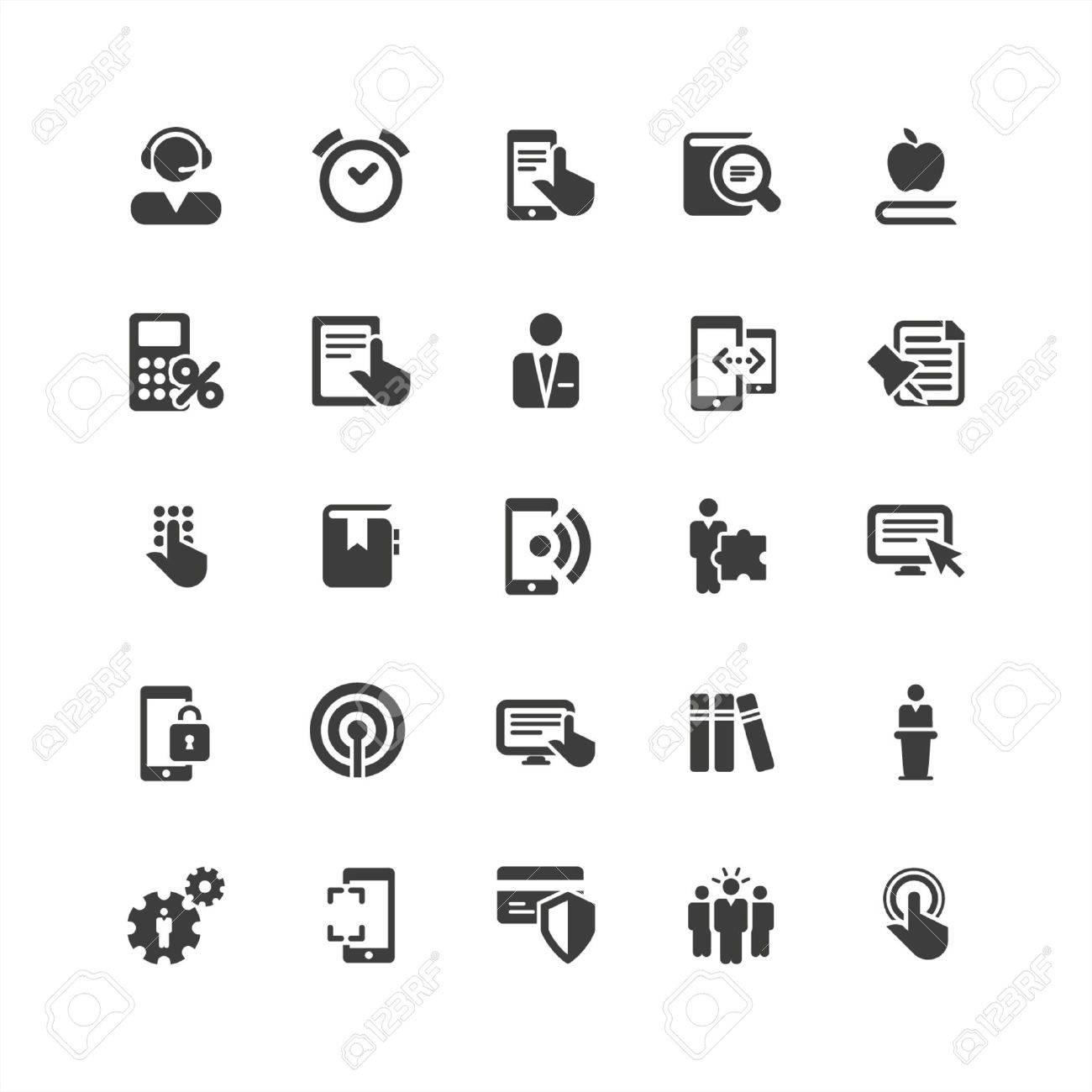 Retina Business Icons Set Stock Vector - 17699982
