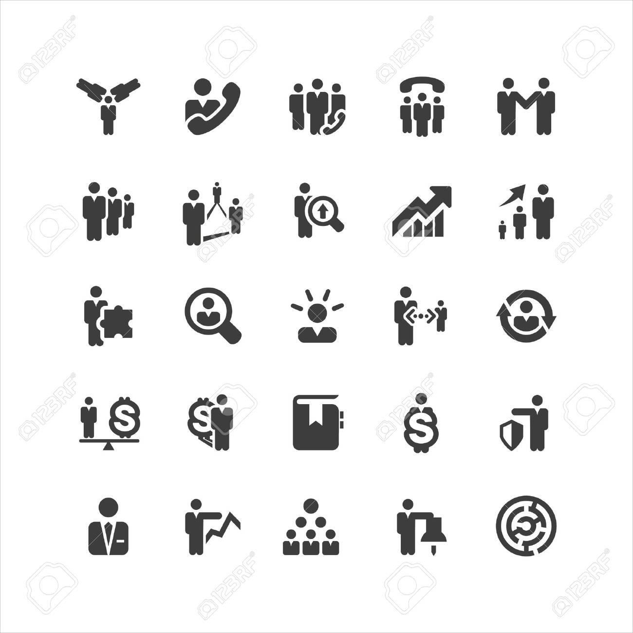 Retina Business Icons Set Stock Vector - 19247023