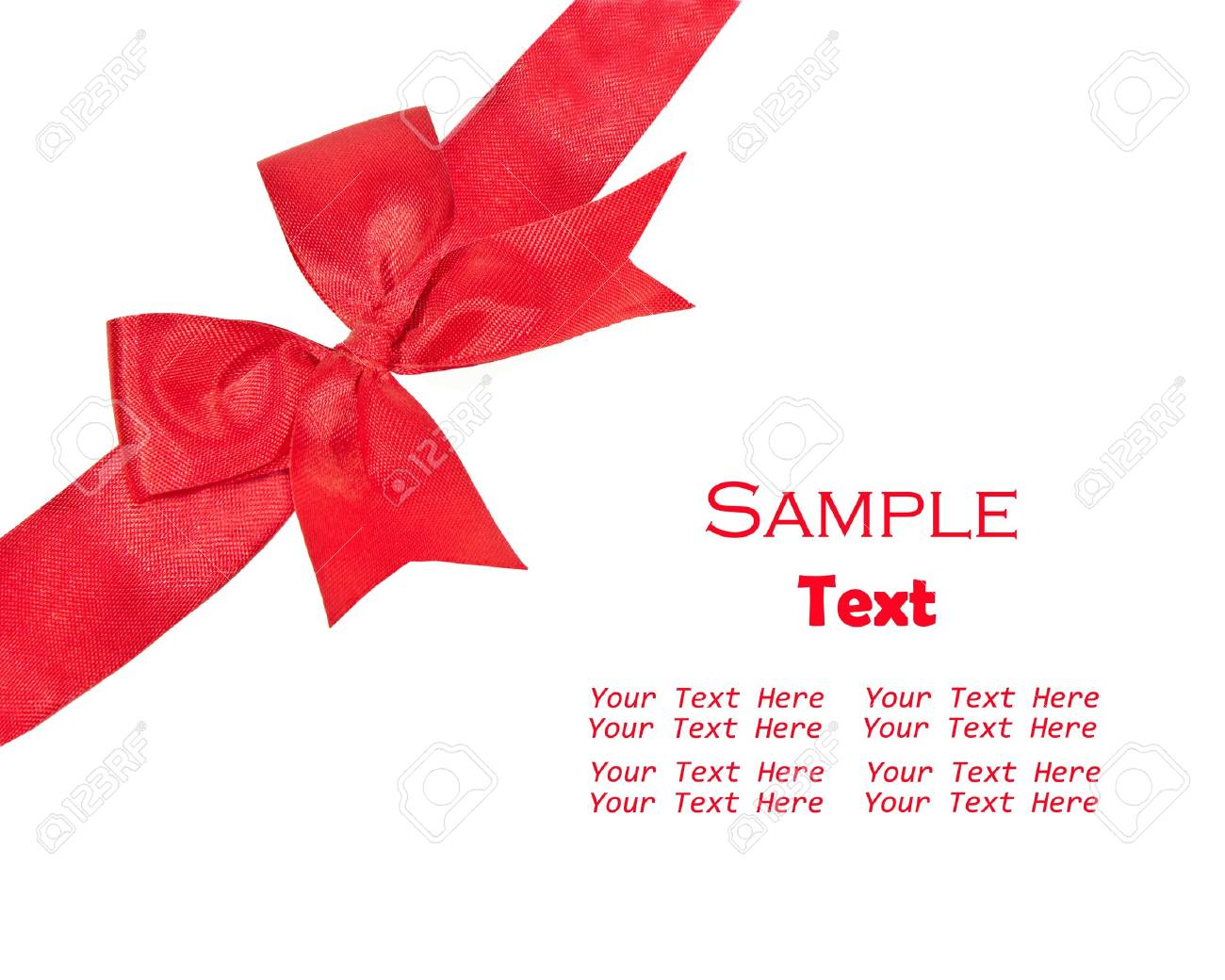 The Red ribbon isolated on white background Stock Photo - 8493476