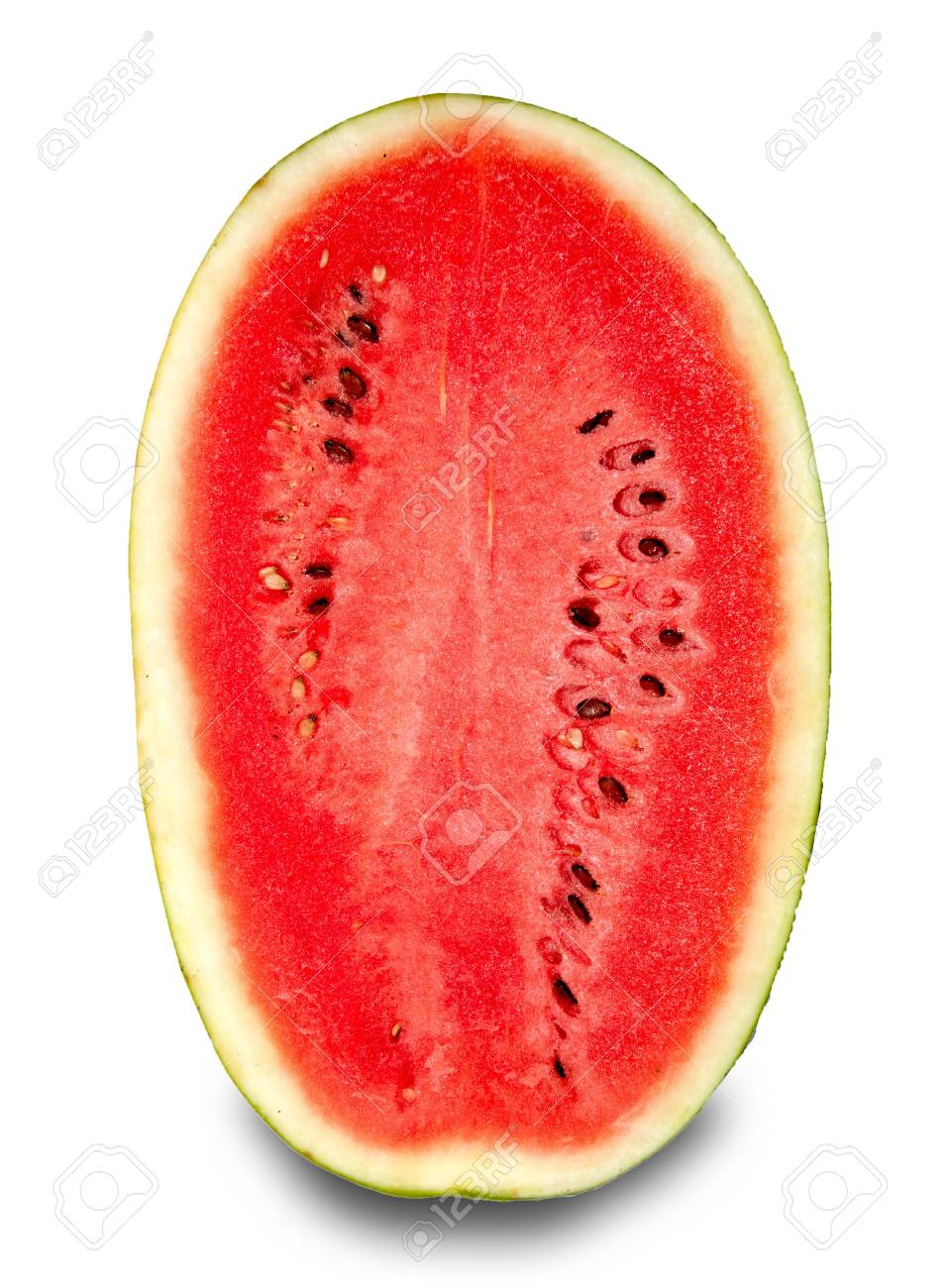 The Fresh water melon isolated on white background Stock Photo - 11927741
