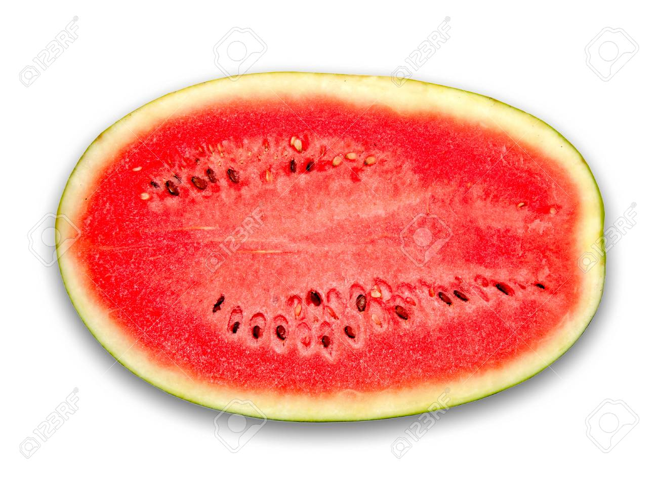 The Fresh water melon isolated on white background Stock Photo - 12028053
