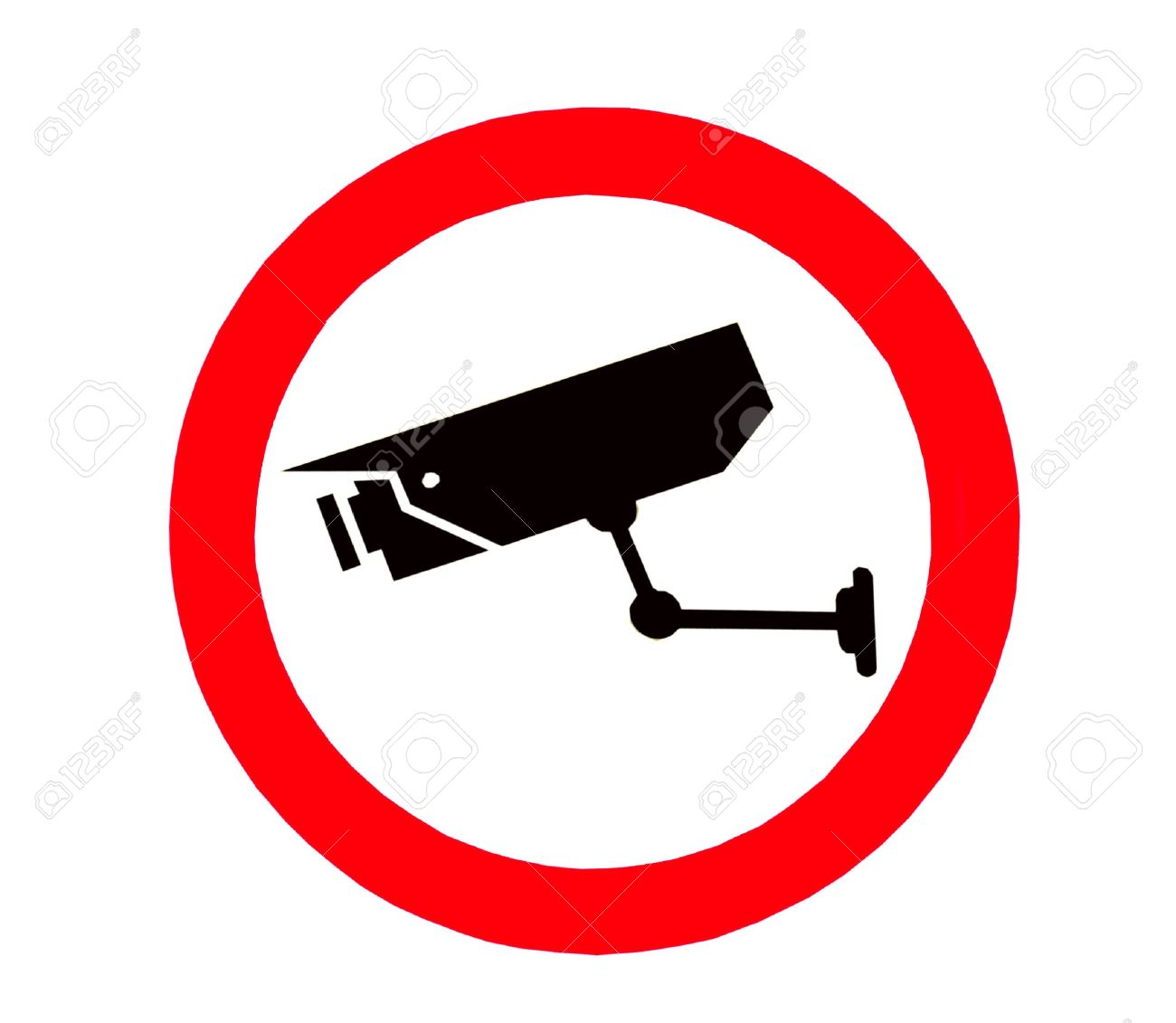 The Sign of Video surveillance sign isolated on white background Stock Photo - 12745370