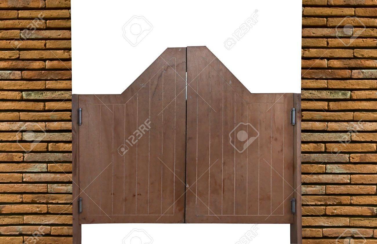 Old Western swinging saloon wooden doors Stock Photo - 15215819