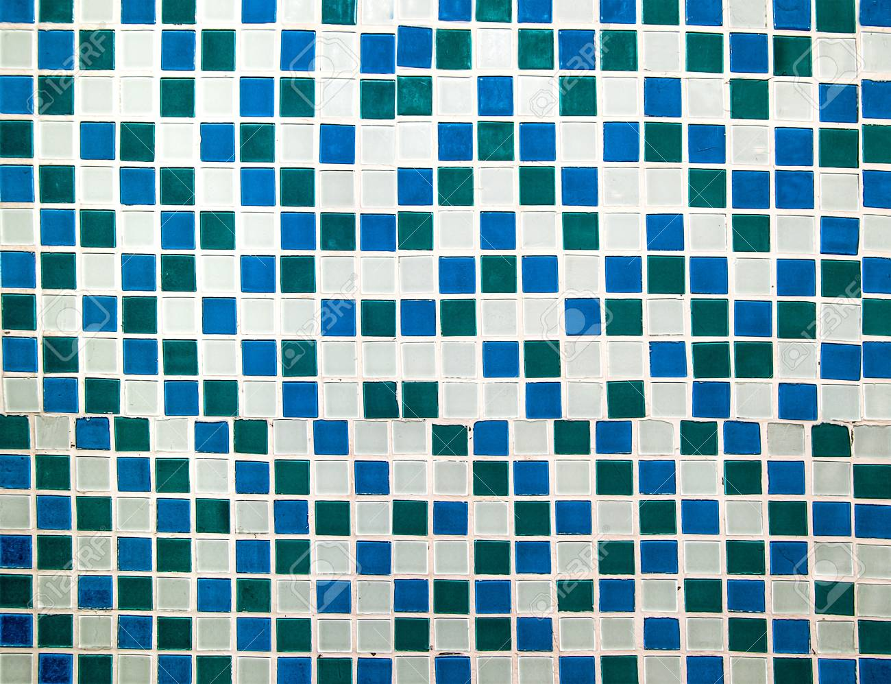 Colorful Ceramic Tiles Wall Decoration Stock Photo, Picture And ...