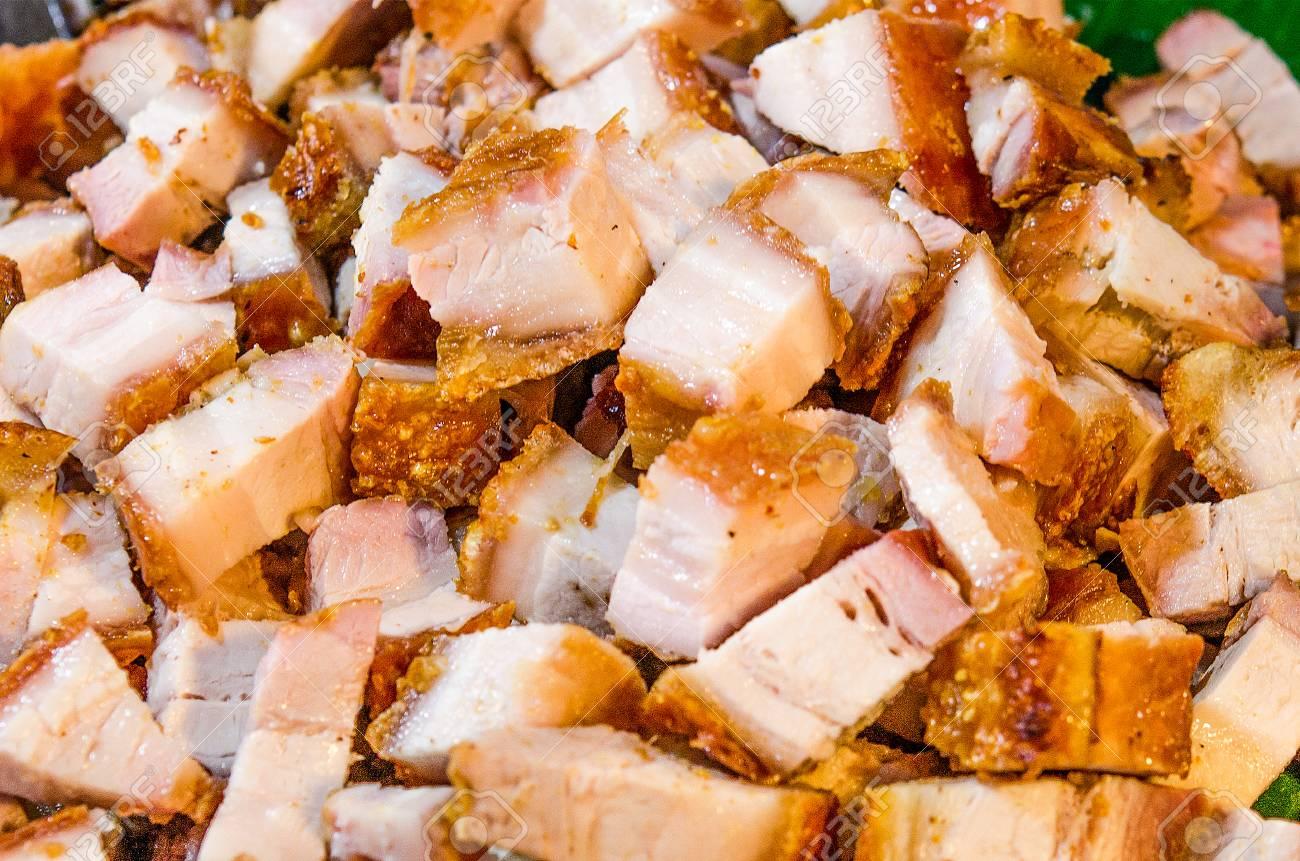 Sliced Pork Deep Fried Pork Belly Sliced