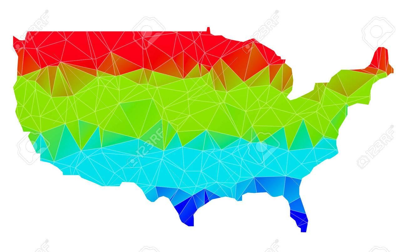 USA Map Geometric Polygonal Design Vector Illustration Stock Photo - Usa map design