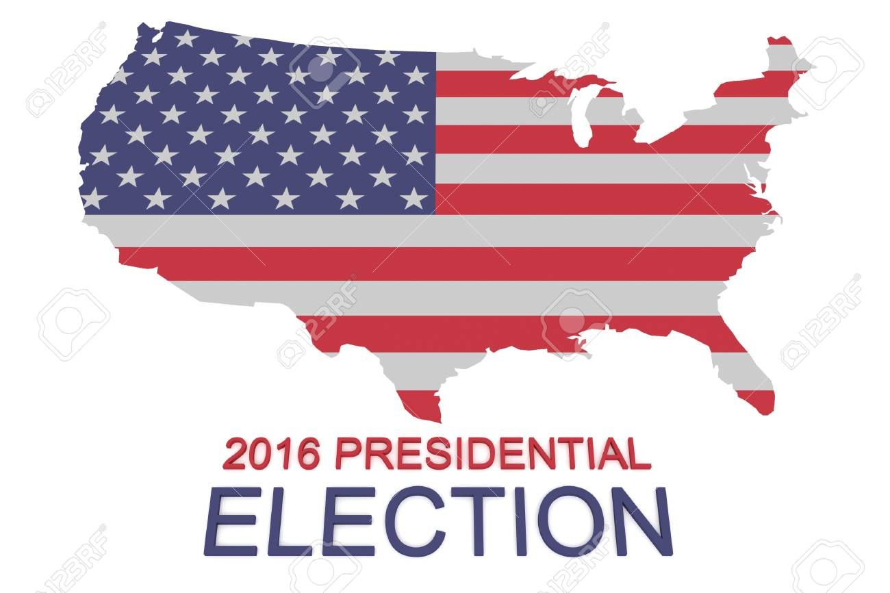 2016 Us Presidential Election Stars And Stripes Map Of The Usa - Us-presidential-election-map-2016