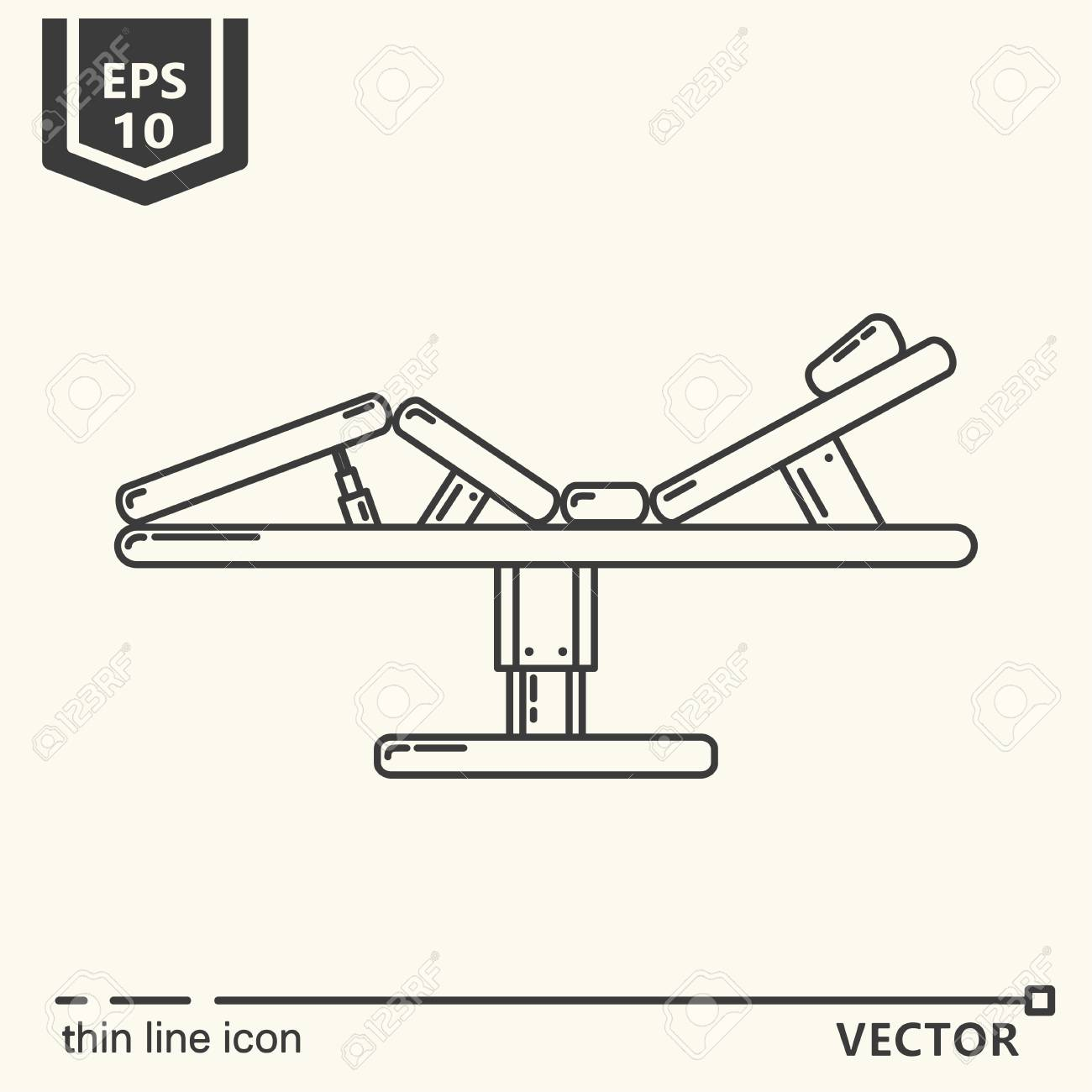 thin line icon massage massage table eps 10 isolated object Drawing Massage Chart Image thin line icon massage massage table eps 10 isolated object stock vector 81296386