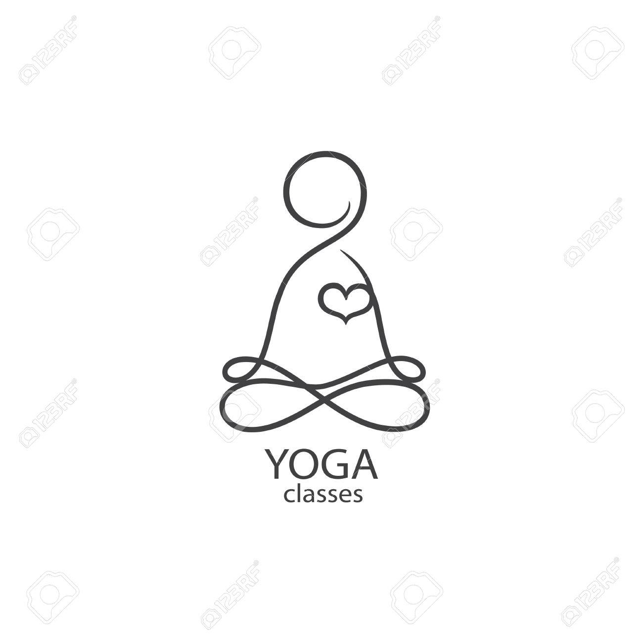 A Logo Template Yoga Classes Eps 10 Isolated Object Illustration Royalty Free Cliparts Vectors And Stock Illustration Image 81798397