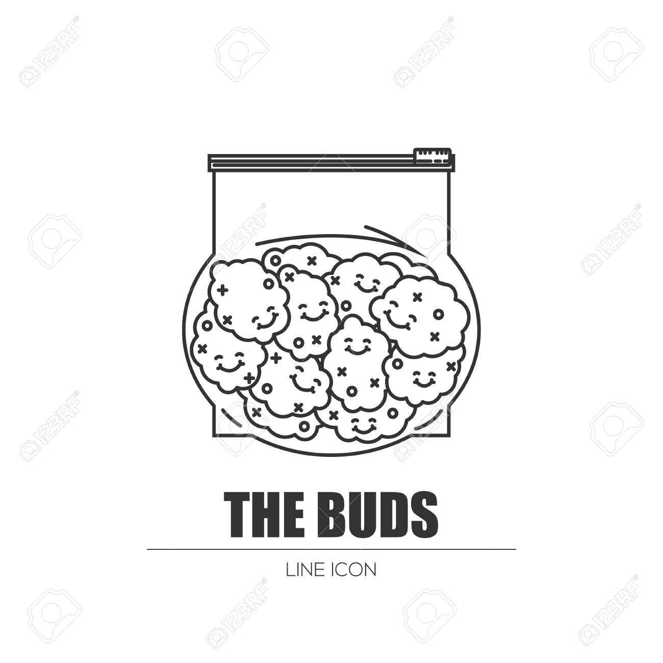 Weed buds in a plastic bag royalty free cliparts vectors and stock weed buds in a plastic bag stock vector 83235492 biocorpaavc Choice Image