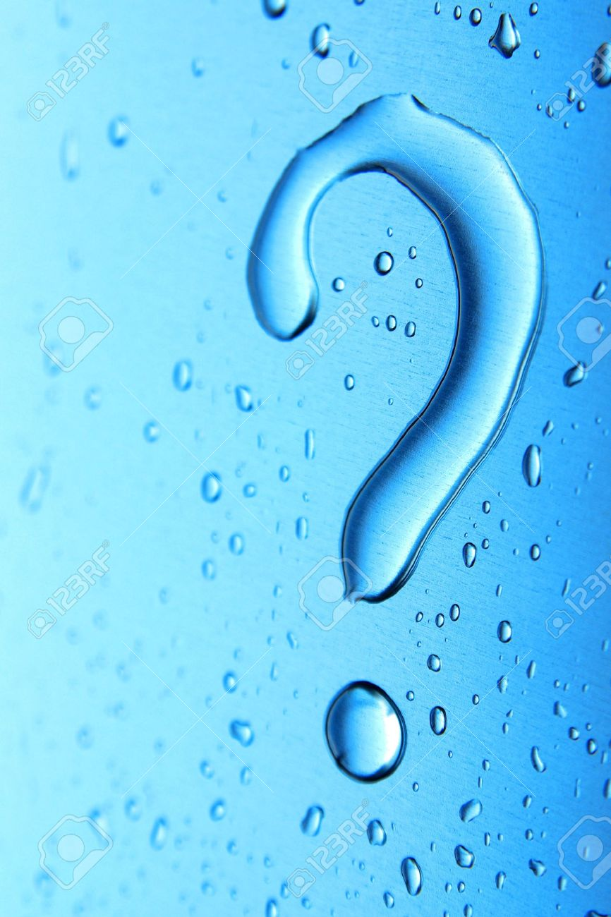 Macro photo of a question mark made of a water bubble Stock Photo - 2801107