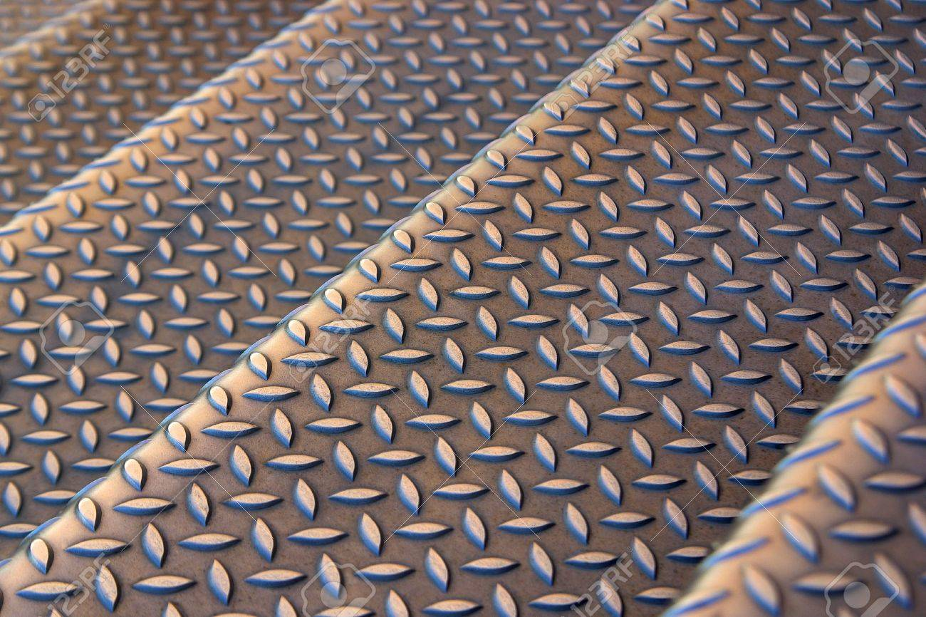 Background photo of a industrial metallic stairs with bumpy pattern Stock Photo - 3706620