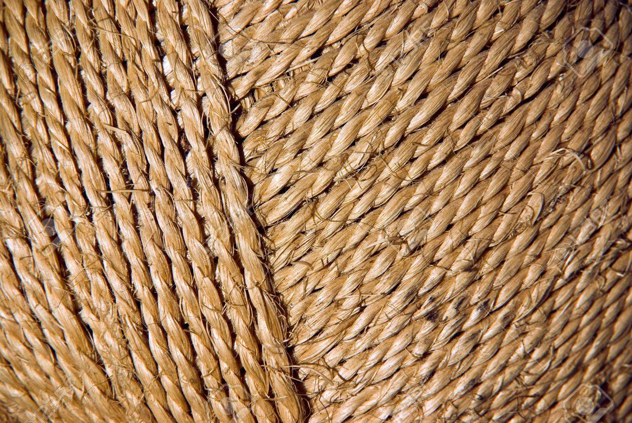 backgtround photo of a closeup detail from a coil of sisal rope stock photo - Sisal Rope