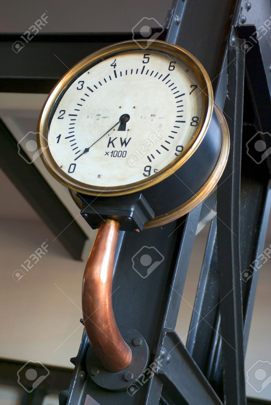Detail of an old electricity measure display in a deactivated power plant Stock Photo - 7914976