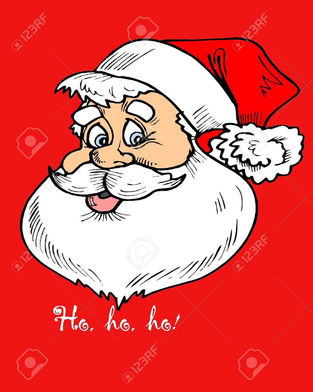 Babbo Natale Ho Ho Ho.Babbo Natale Illustrazione