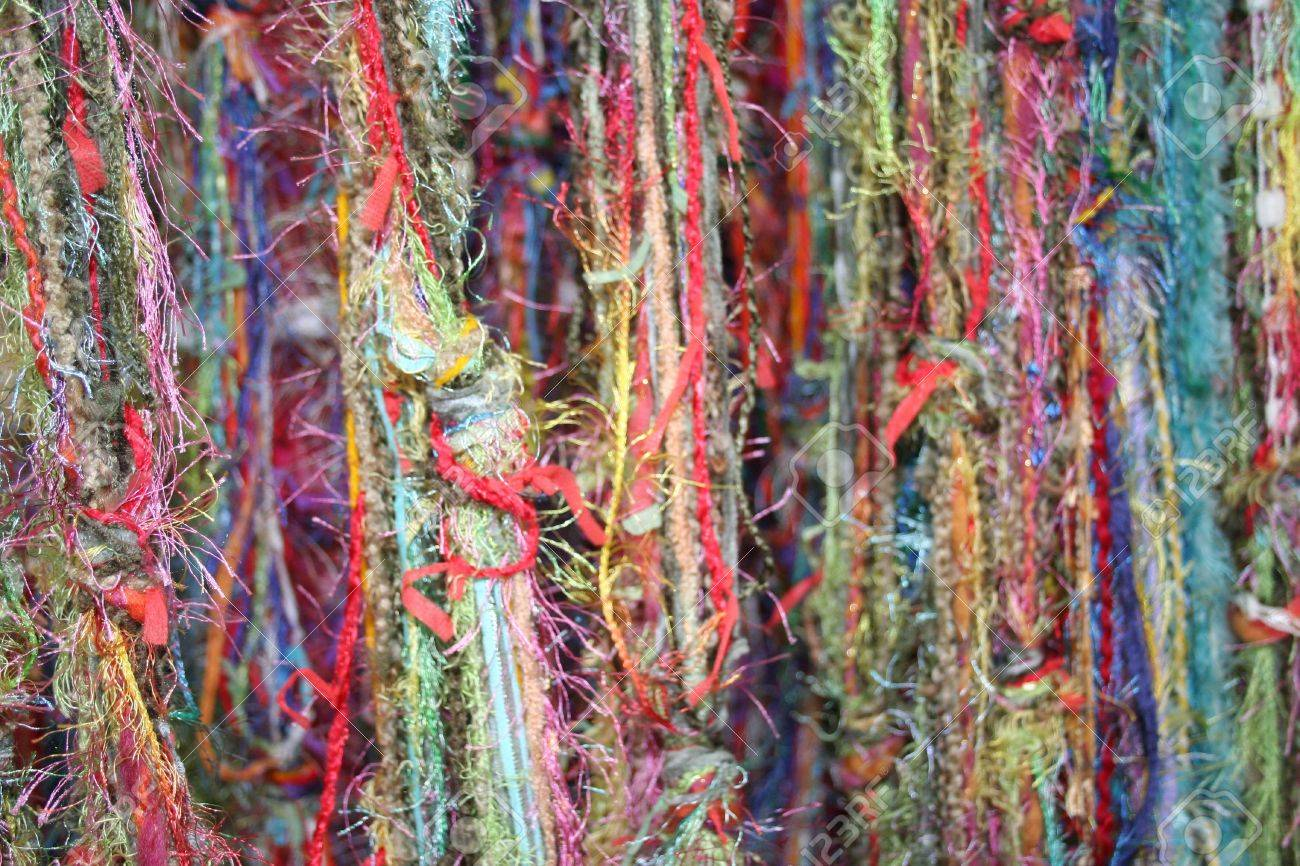 Multi colored yarns and threads for texture or background Stock Photo - 7971088