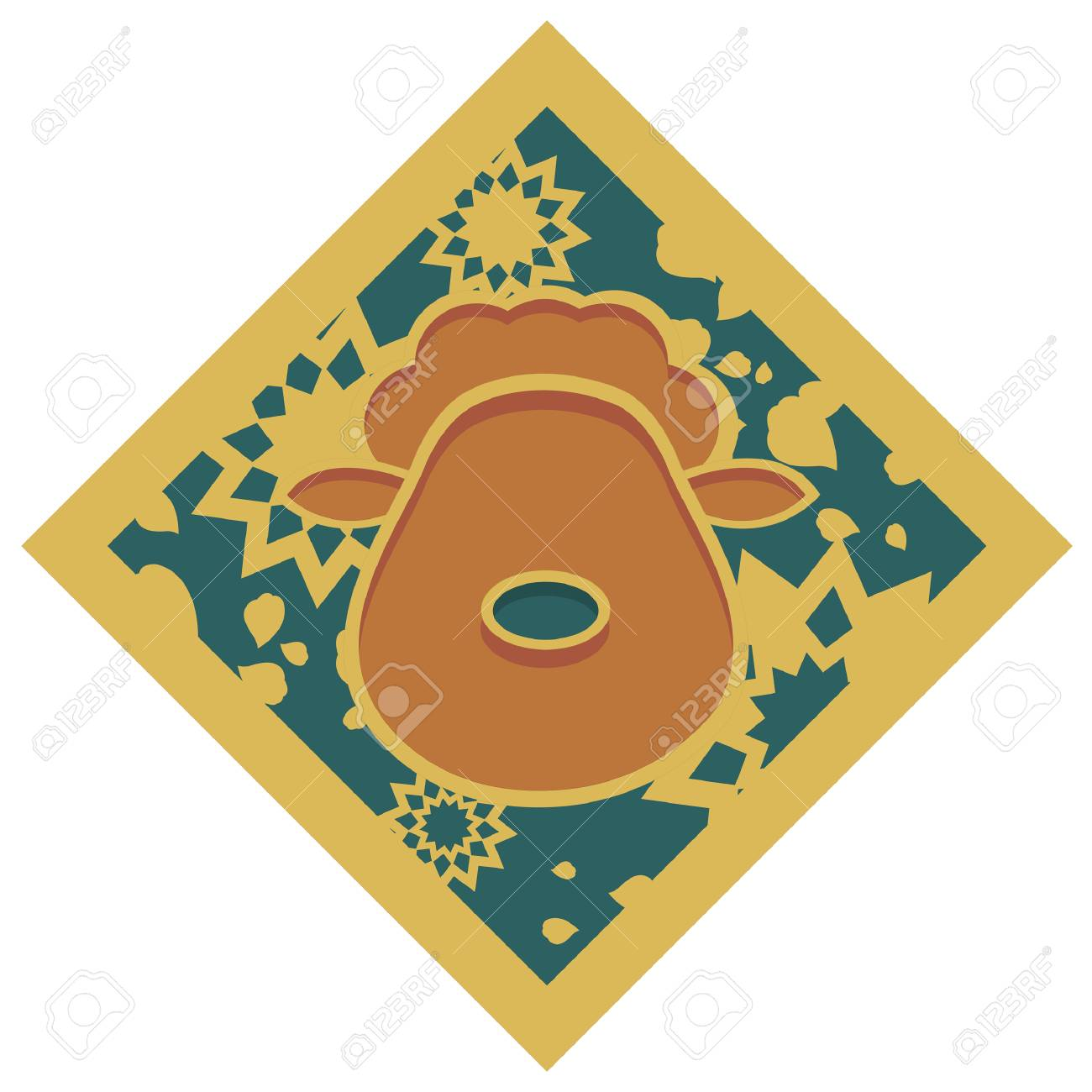 Japanese zodiac Sheep Pattern Icon