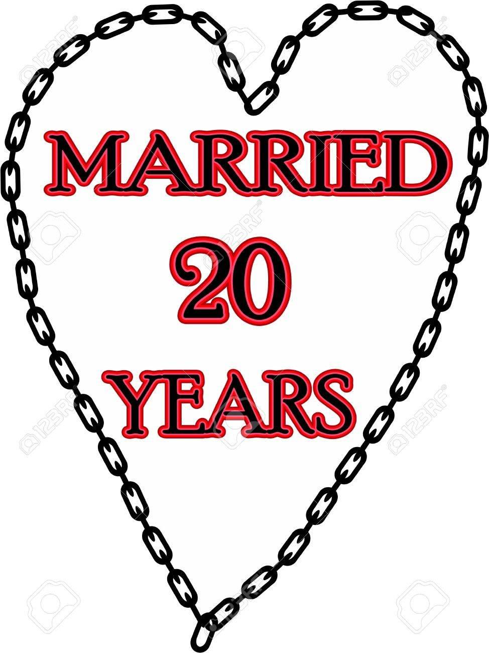 Mariage Humoristique Mariage Anniversaire Enchaîné Depuis 20 Ans