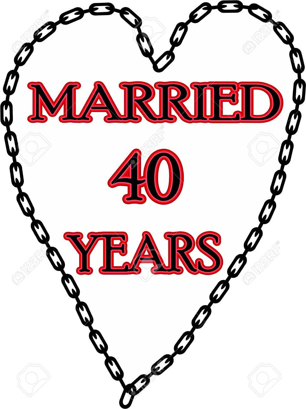 Humoristic marriage / wedding anniversary chained for 40