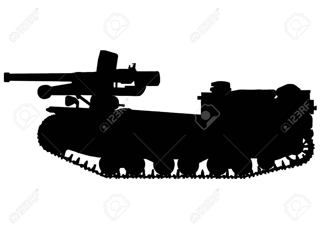 WW2 Series - Italian L40 da 47/32 Tank Destroyer Stock Vector - 8763817