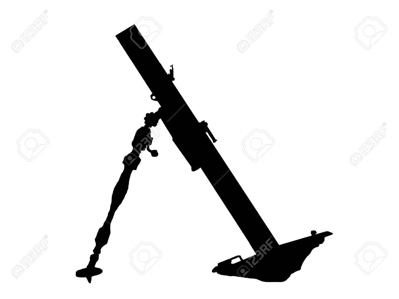 WW2 Series - Soviet 82 PM37 light mortar launcher Stock Vector - 8763793
