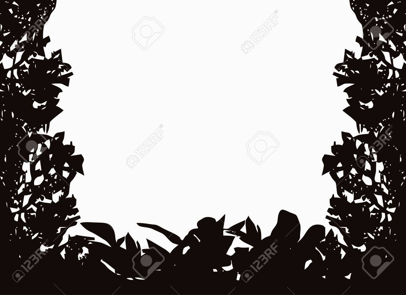 Isolated bush or jungle frame Stock Vector - 9071051