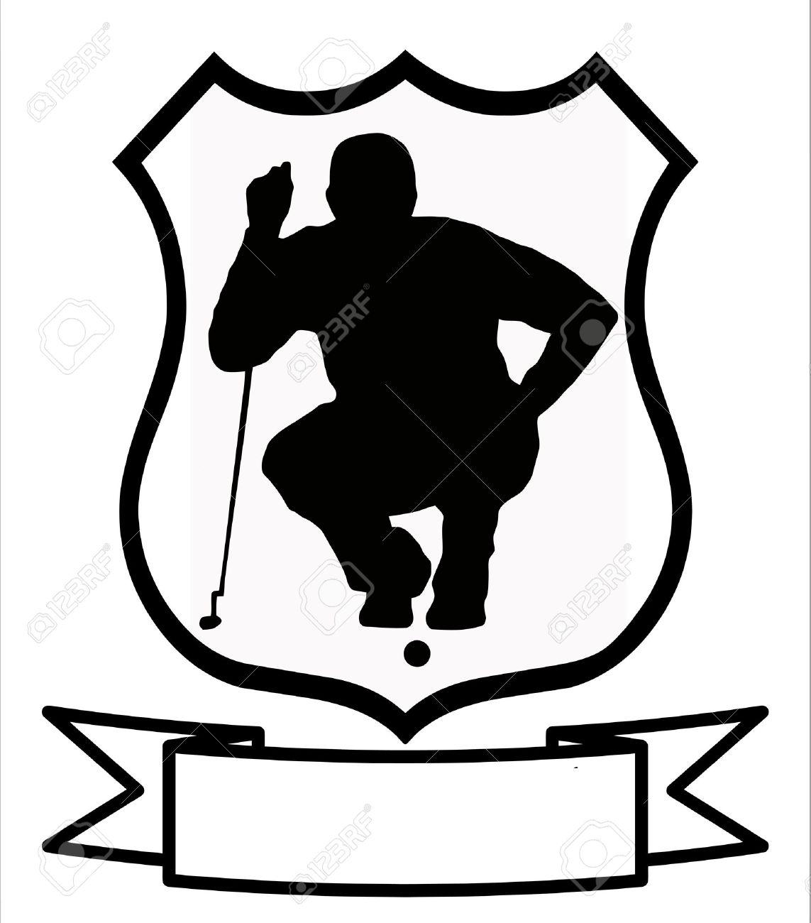 Golf Sport Emblem Badge Shield Logo Insignia Coat of Arms Stock Vector - 10233397