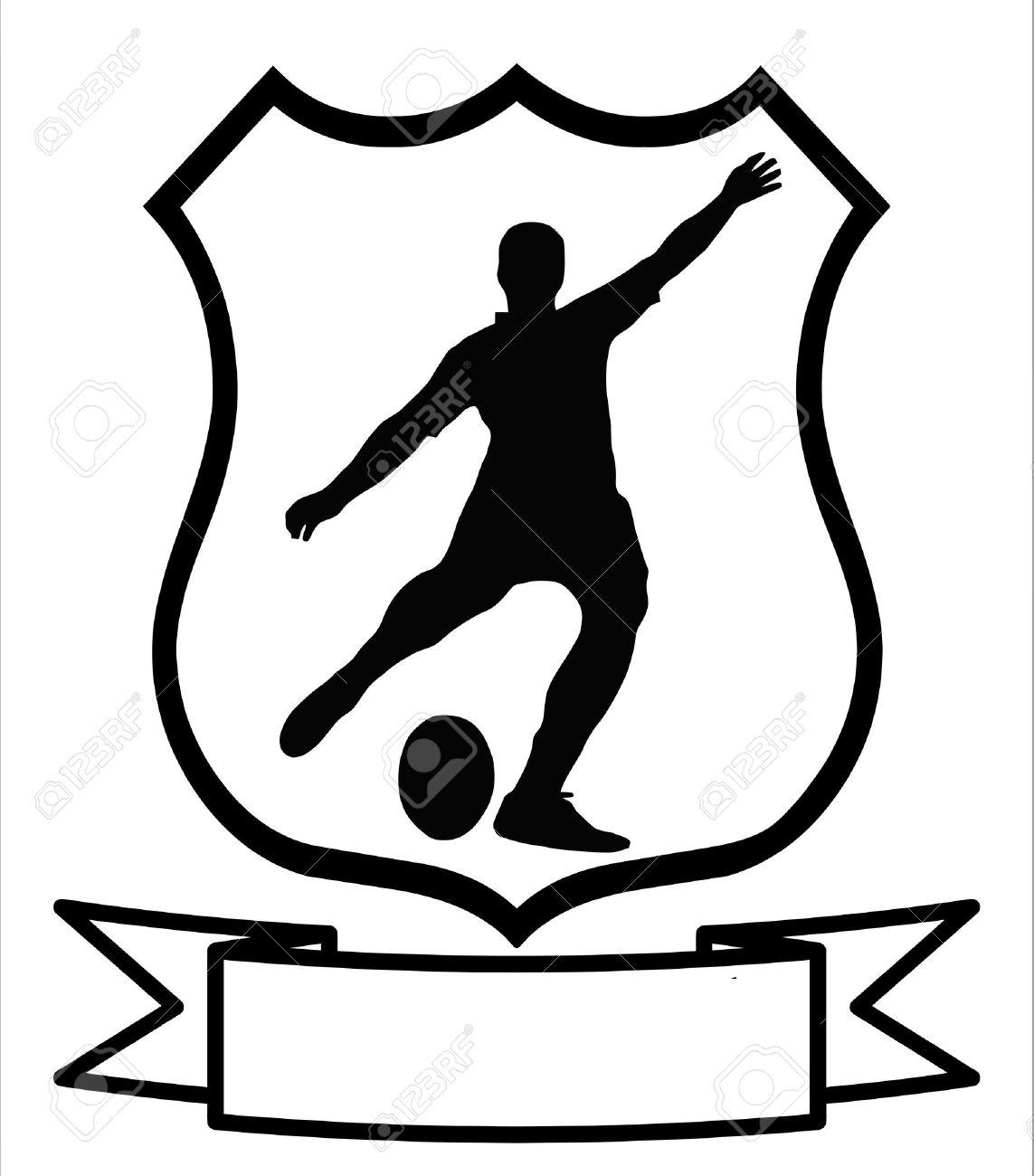7c23e36b213b3 Foto de archivo - Rugby fútbol deporte emblema insignia escudo logotipo  Insignia escudo