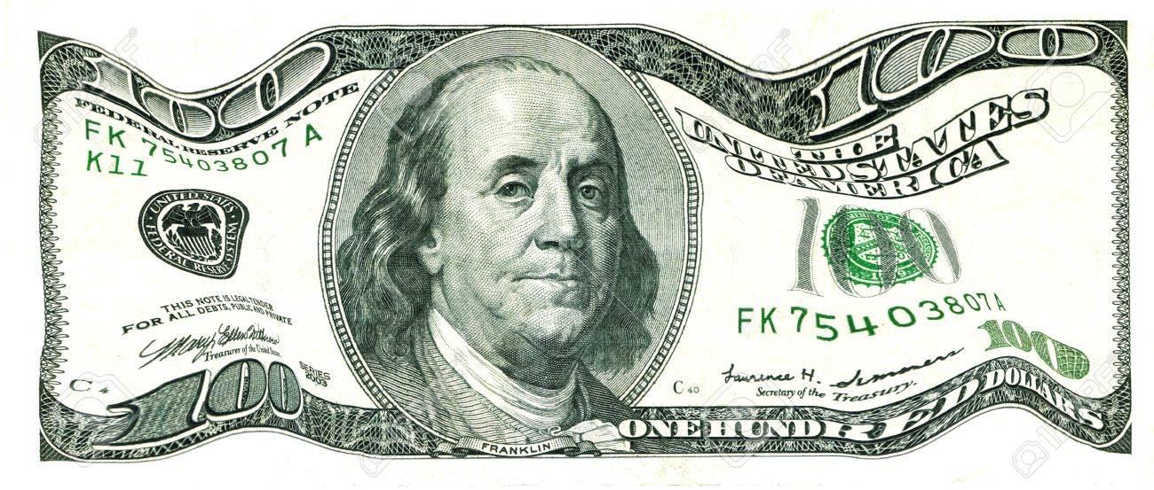 Shaky 100 Us Dollar Bill Value Under Pressure Stock P O 10282031
