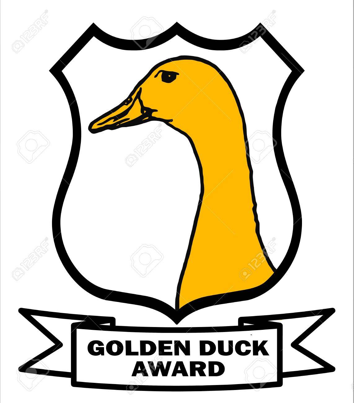 Cricket Golden Duck Award Shield with white background Stock Photo - 10457658