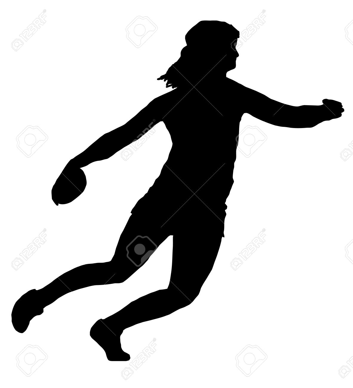 Isolated Image of a Female Discus Thrower Stock Vector - 10928792