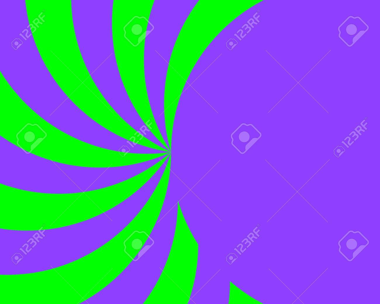 Luminoso Ray Viola E Verde E Circle Sfondo Metà