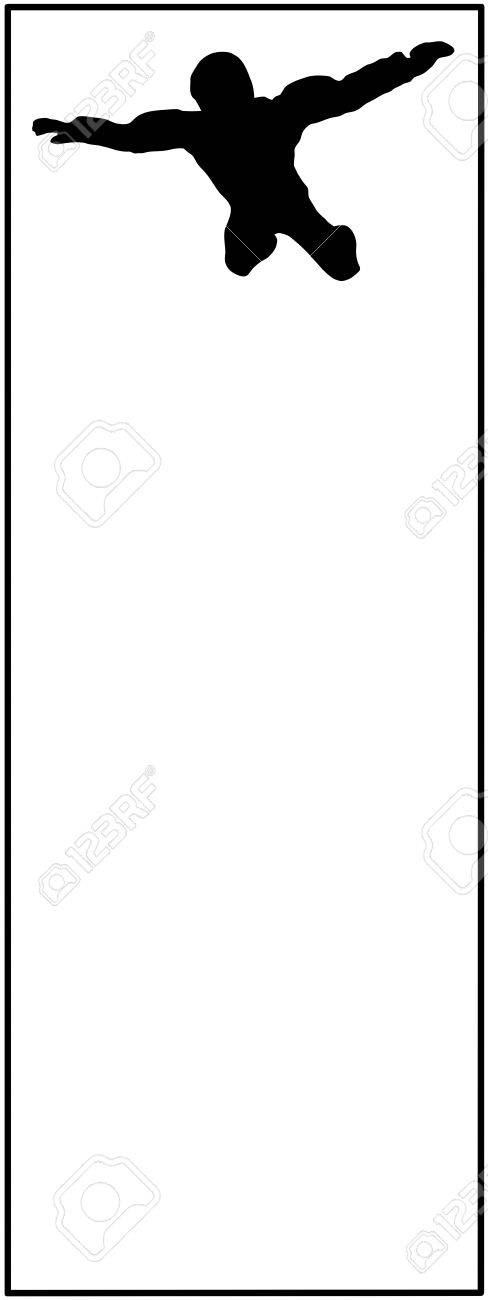 Sky Diver on Black and White Isolated Card Stock Photo - 14456845