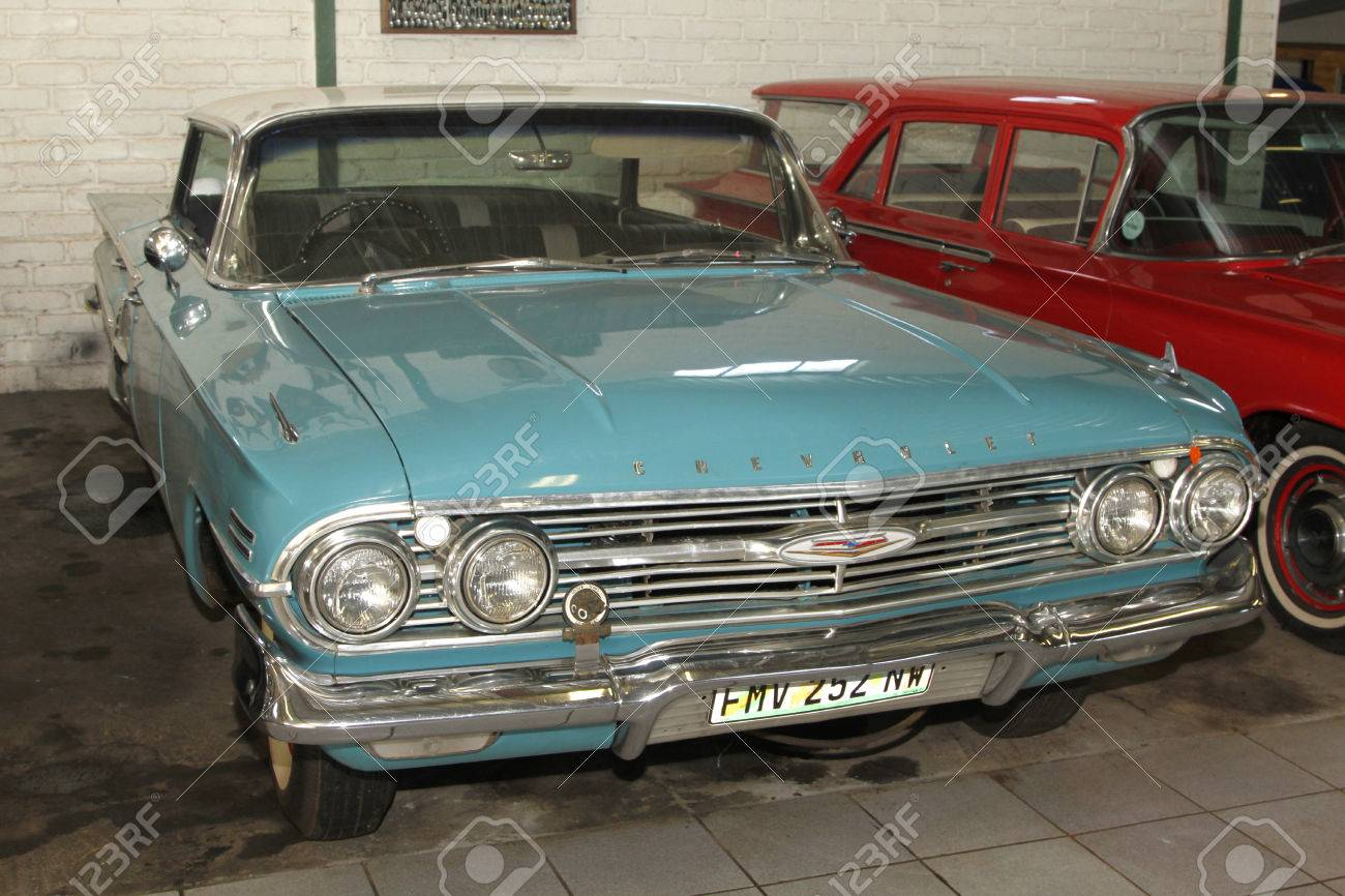 Rustenburg South Africa February 15 Blue 1960 Chevrolet Stock Photo Picture And Royalty Free Image Image 26061022